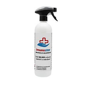 Imunostar folyékony felület- és kézfertőtlenítő spray, alkoholos, 750 ml