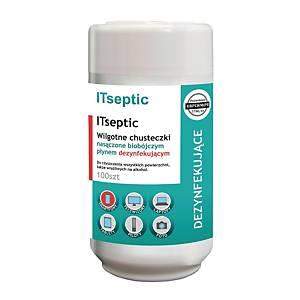 Chusteczki ITSEPTIC czyszcząco – dezynfekujące  tuba 100 sztuk