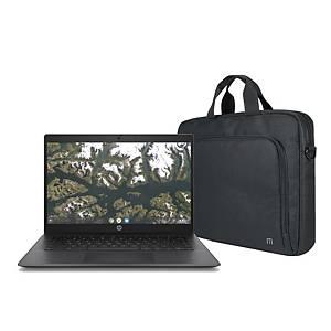 Pack portátil Hp Chromebook de 14 pulgadas y maletín de 14-16 pulgadas con ratón