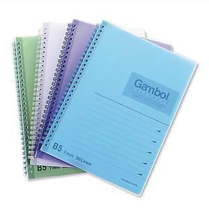 Gambol DS1798 鐵圈筆記簿 混色 B5 - 每本80張紙
