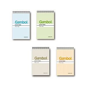 Gambol SA7506 鐵圈筆記簿 混色 A7 - 每本50張紙