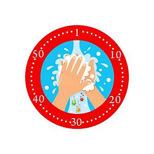 """Bollo adesivo per vetrine  LAVARE LE MANI 60 SECONDI"""" – conf. 2"""