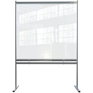 Nobo clear pvc free standing protective divider screen 1400x2000mm