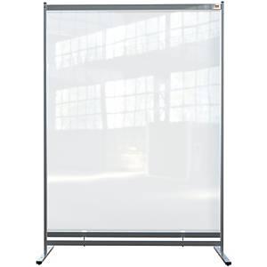 Cloison de protection autoportante Nobo, PVC transparent, 140 x 200 cm