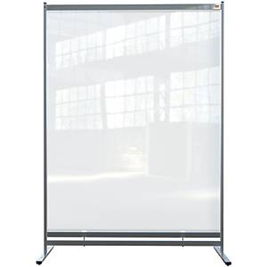 Nobo clear pvc free standing protective room divider screen 1400x2000mm