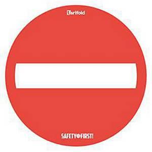 Waarschuwingsmat  geen doorgang , vinyl, diameter 500 mm