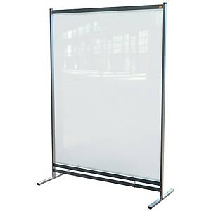 Nobo Premium Plus Clear PVC Free Standing Protective Room Divider Screen