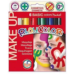 §Tempera solida make up Playcolor colori brillanti - conf. 6