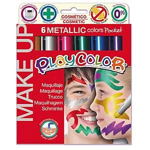 §Tempera solida make up Playcolor colori metallici - conf. 6