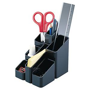 Organisateur de bureau multiconteneur - 7 compartiments - noir