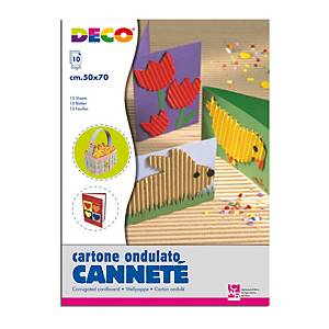 §Cartoncino ondulato CWR 50x70 cm cannetè colori assortiti - conf. 10