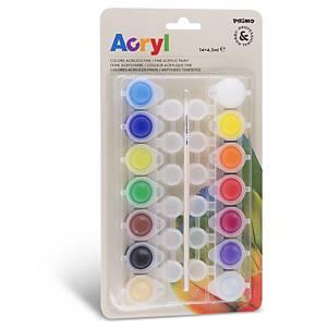 §Colori acrilici Primo fine 4,5 ml colori assortiti - conf. 14