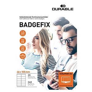 Identyfikator samoprzylepny DURABLE Badgefix  Safe Distance , 240 sztuk