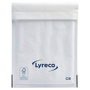 Lyreco papieren luchtkussenenveloppen, 150 x 210 mm, wit, pak van 100 stuks