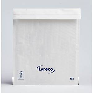 Lyreco White Bubble Envelope 220 x 260mm E/2 - Pack of 100