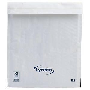 Boblekonvolutt Lyreco, 220 x 260 mm, 75 g, hvit, pakke à 100 stk.
