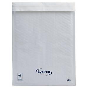 Enveloppes à bulles d'air en papier Lyreco, 240 x 340 mm, blanches, les 100