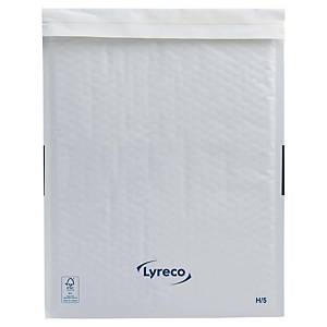 Lyreco papieren luchtkussenenveloppen, 270 x 360 mm, wit, pak van 100 stuks