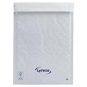 Bubbelkuvert Lyreco, 330 x 230mm, 70 g, vitt, förp. med 100 st.
