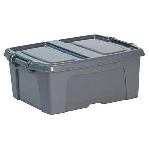 Caixa de armazenamento Cep HW251 - 24 L - cinzento