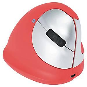 R-GO Ergo Mouse - Sem fio - destro - Vermelho