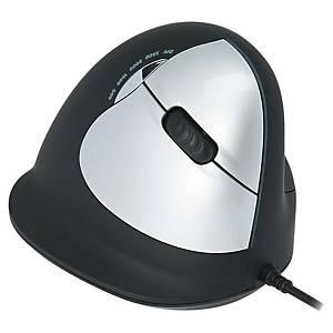 R-GO Ergo Mouse - Com Fio - Destro - Preto