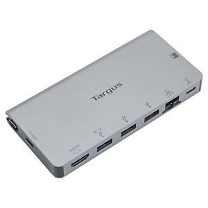USB-C adaptateur multiport Targus, HDMI, 3 X USB-A, Ethernet, USB-C, argenté