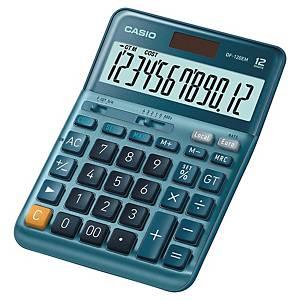 Casio DF-120EM rekenmachine voor kantoor, blauw, 12 cijfers