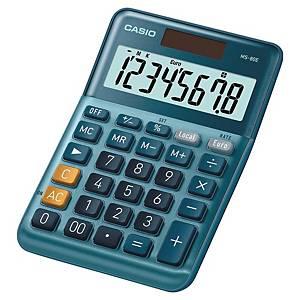 Casio MS-80E rekenmachine voor kantoor, blauw, 8 cijfers