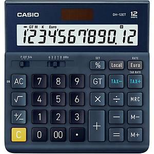 CASIO DH-12ET Big Desk Calculator 12-Digit, Solar/Battery Powered