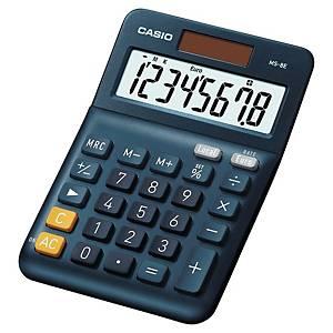 Casio MS-8E rekenmachine voor kantoor, blauw, 8 cijfers