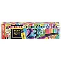 Deskset zum 50. Geburtstag Stabilo Boss, pastell sortiert, 23 Stück