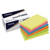Haftnotizen Lyreco Premium, 75x125 mm, Farben Sommer, Pk. à 6 Stk.