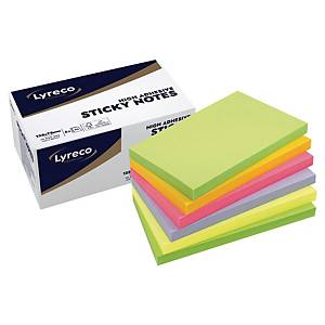 Sticky Notes Lyreco Premium Spring, 75 x 125 mm, pakke a 6 stk.