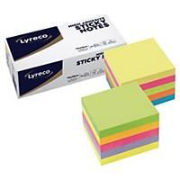 Haftnotizen Lyreco Premium Cube, 75x75mm, Farben Sommer & Frühling, Pk. à 2 Stk.