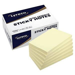 Lyreco Premium Sticky Notes 125x75mm Yellow- Pack of 12