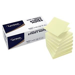 ลีเรคโก พรีเมี่ยม กระดาษโน้ตชนิดมีกาวแบบต่อเนื่อง 3X3 นิ้ว เหลือง แพ็ค 12 เล่ม