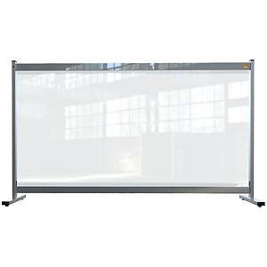 Nobo clear pvc protective desk divider screen 1400x800mm