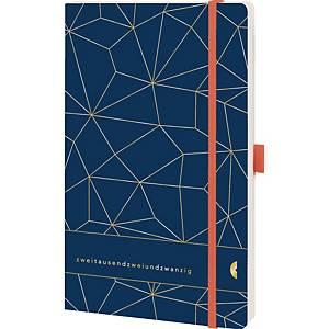 Buchkalender Chrono 50461 A5 soft 1Woche /2 Seiten blau