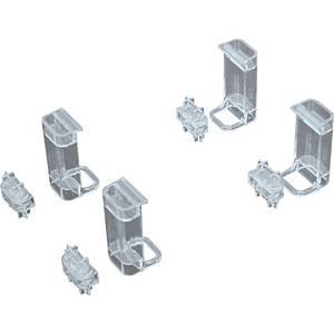 Stapelträger Helit H61011, für Briefablage H61010, glasklar, 4 Stück