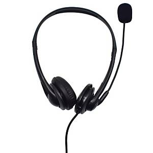 OPPTEL SD2001 WIRED HEADSET 2 IN 1 USB BLACK