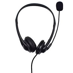 OPPTEL SD2001 WIRED HEADSET 2 IN 1 USB BLACK
