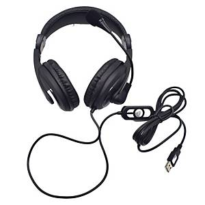 VCOM DE160U HEADSET WIRED USB BLACK WITH IN-LINE CONTROLS