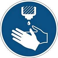 Påbudsskilt Durable  Brug håndsprit , 430 mm