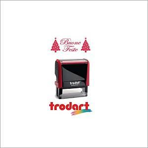 Timbro decorativo Trodat Printy 4912   BUONE FESTE   rosso