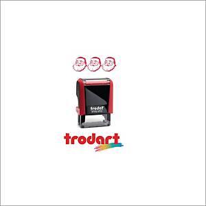 Timbro decorativo Trodat Printy 4910   BABBO NATALE   rosso
