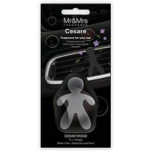 Parfum pour la voiture petit homme MR+MRS CESARE, bois de cèdre, noir