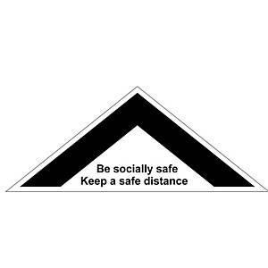 Floor Distance Chevron - Keep A Safe Distance
