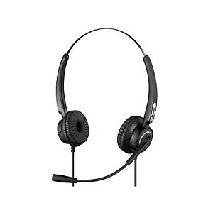 Sandberg USB Office Pro Stereo mikrofonos fejhallgató, fekete