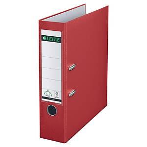 Ordner Leitz 1010, PP-kaschiert, A4, Rückenbreite 80mm, rot
